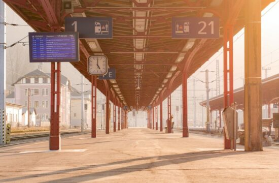 Leerer Bahnhof